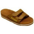 Massage Sandal Brown Velcro Strap