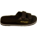 Massage Sandal Black Velcro Strap